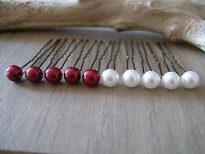 lot  Accessoires à Cheveux/Pics/Epingles p robe de Mariée Mariage Blanc/Bordeaux