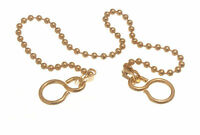 12 Inch Basin Sink Ball Chain : Polished Brass For Plug 300mm - Pkt Of 120
