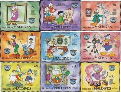 100% QualitäT Malediven 1073-1081 kompl.ausg. Postfrisch 1984 Donald Duck
