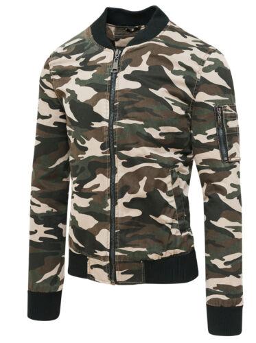 Jacke Jacke Herren Mimetikum Militär Slim Fit Jacke Kurz Casual aus Baumwolle