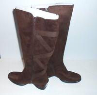 Covington Ladies Suede Knee-high Boots Chocolate 6m