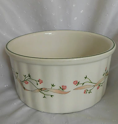 Souffle dish serving bowl Johnson Brothers Eternal Beau 2 1/2 pint ribbon bow