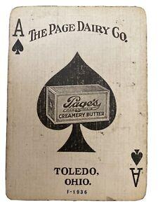 Page-s-Kleen-Maid-Joker-Single-Swap-Playing-Card-Vintage-JOKER