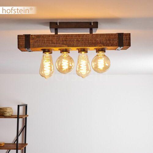 Holz Decken Lampe Vintage Flur Leuchten 4-flammig Wohn Schlaf Zimmer Beleuchtung