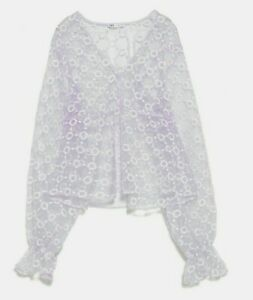 ZARA-WOMAN-NWT-SALE-SEMI-SHEER-EMBROIDERED-BLOUSE-PURPLE-SIZE-M-REF-1198-460