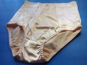 Women Control Panties,Breifs ANNE DIANE Size XL Satin Black Soft Silky