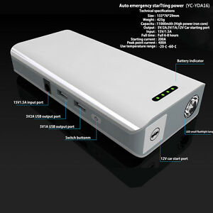 11000mah powerbank auto starthilfe led jump starter notstart ladeger t booster ebay. Black Bedroom Furniture Sets. Home Design Ideas