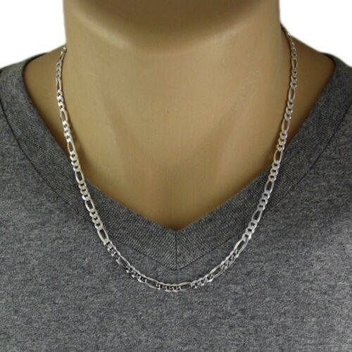 120 Gauge 925 Sterling Silver Solid Figaro Link Chain Necklace 5mm