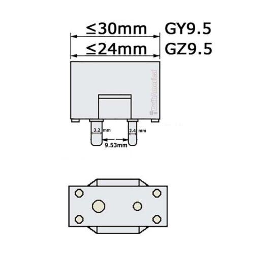 OSRAM 650w 240v 64717 CP//89 FRM GY9.5 Single Ended Halogen Light Bulb