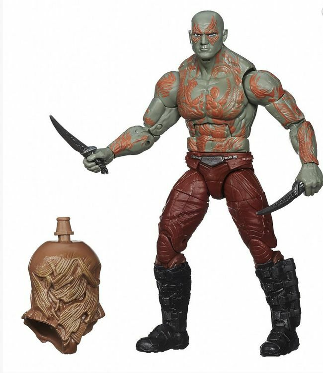 Drax-Guardians of the Galaxy Marvel Legends Infinite w BAF Groot Torso by Hasbro