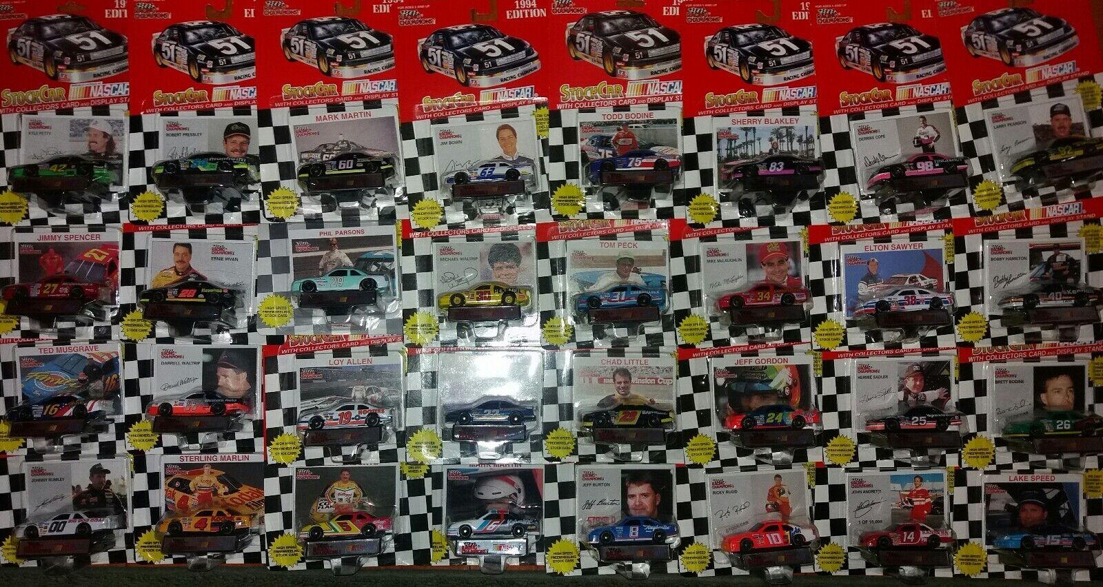 NASCAR 1992 94 Racing Champions Lot of 42 Different Cars Martin Elliott Irvan