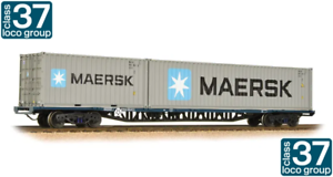 Bachmann 38-628 FFA Freightliner Wagon BR Blue with Maritime Containers TOPS