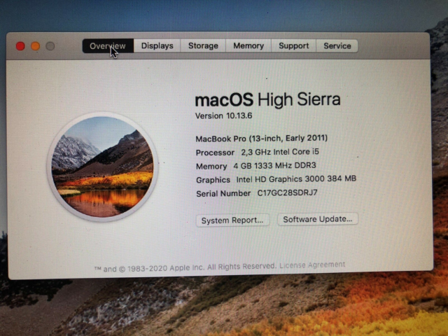 "MacBook Pro, 13"" Early 2011, 2.3 Intel Core i5 GHz, 4 GB…"