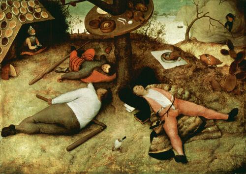The Land of Cockaigne Pieter Bruegel the Elder Art Print//Poster