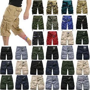 Mens-Casual-Camo-Shorts-Combat-Short-Pants-Military-Army-Cargo-Work-Trousers