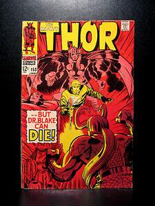 COMICS-Marvel-Thor-153-1968-1st-full-length-story-RARE-avengers