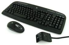 Item 5 Logitech EX110 Black 102 Keys Wireless Keyboard Optical Mouse Combo