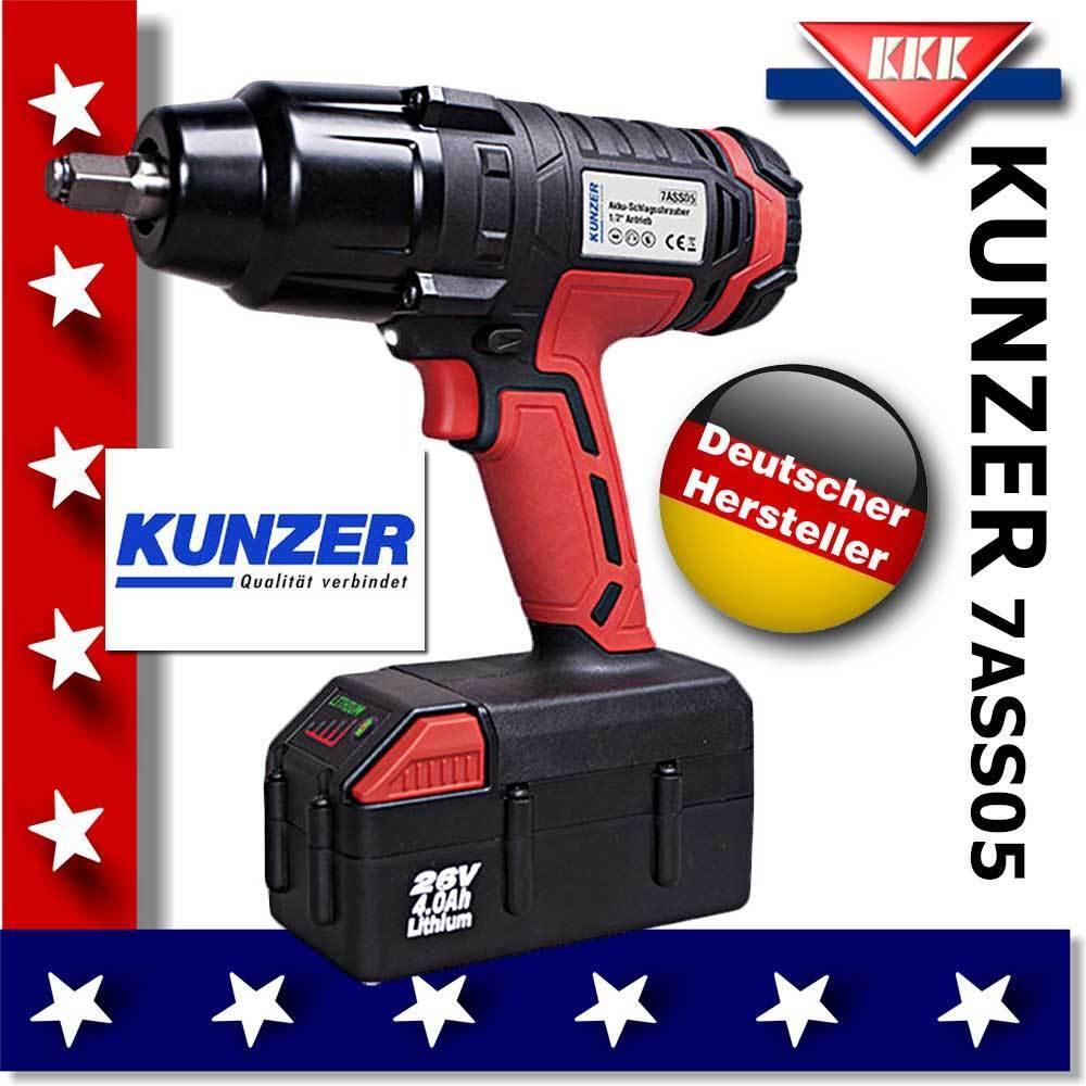 Preishammer  KUNZER Profi Akku-Schlagschrauber 7ASS05 1/2