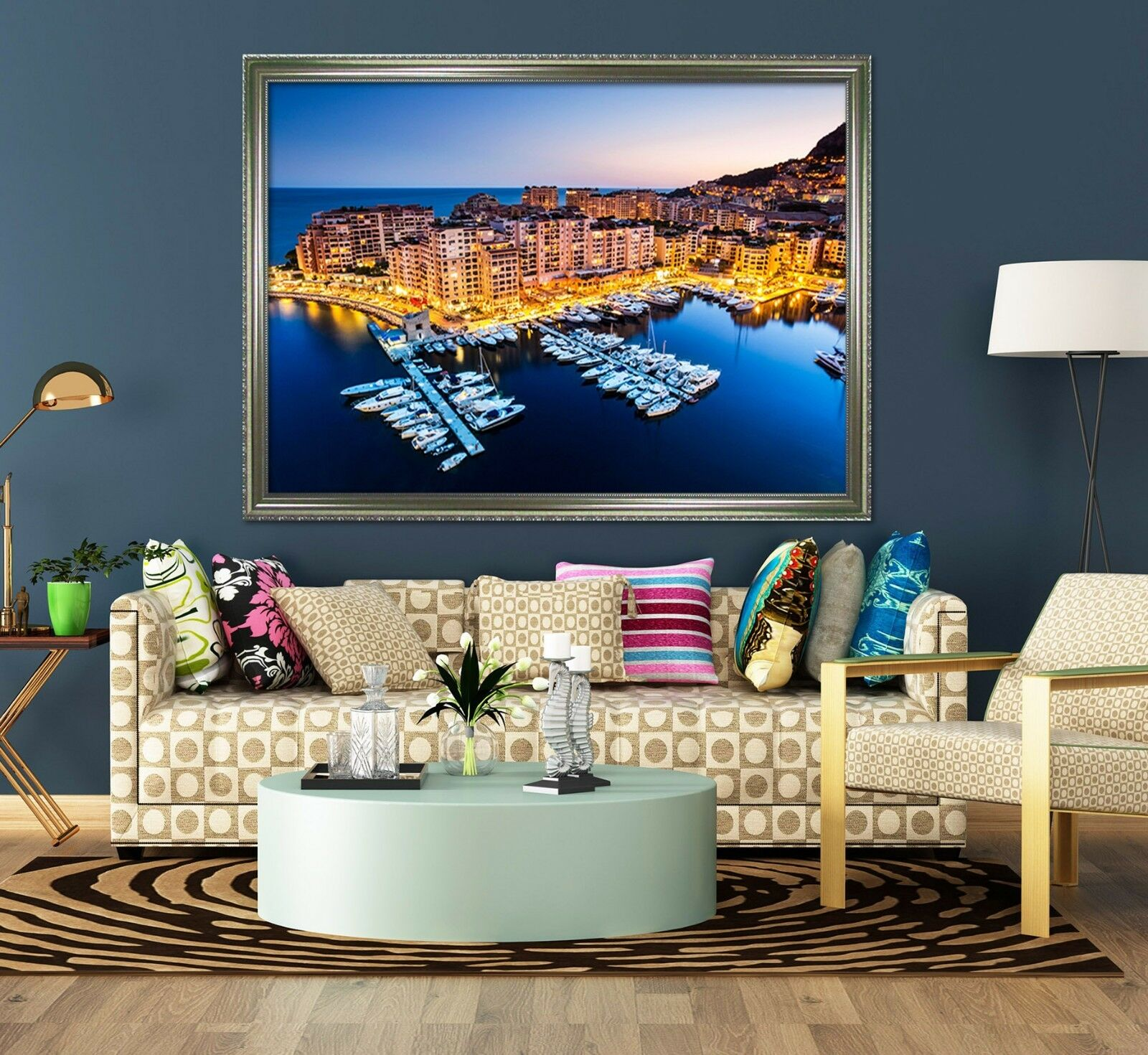 3D Harbor City 67 Fake Framed Poster Home Decor Print Painting Unique Art Summer