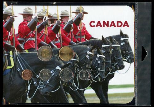 6 Coin Collector Card Set RCM Canada 2010 RCMP