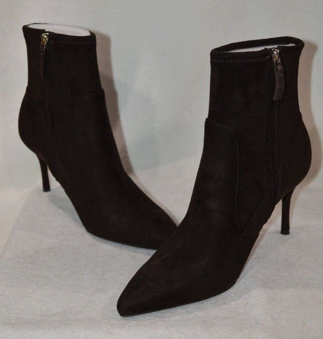 Nine West Women's CANDENCE Dark Brown High Heel Ankle Boots-Size 9.5 NWB