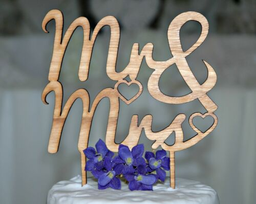 Mr /& Mrs Wedding Cake Topper Love Made in Australia. Rustic wooden