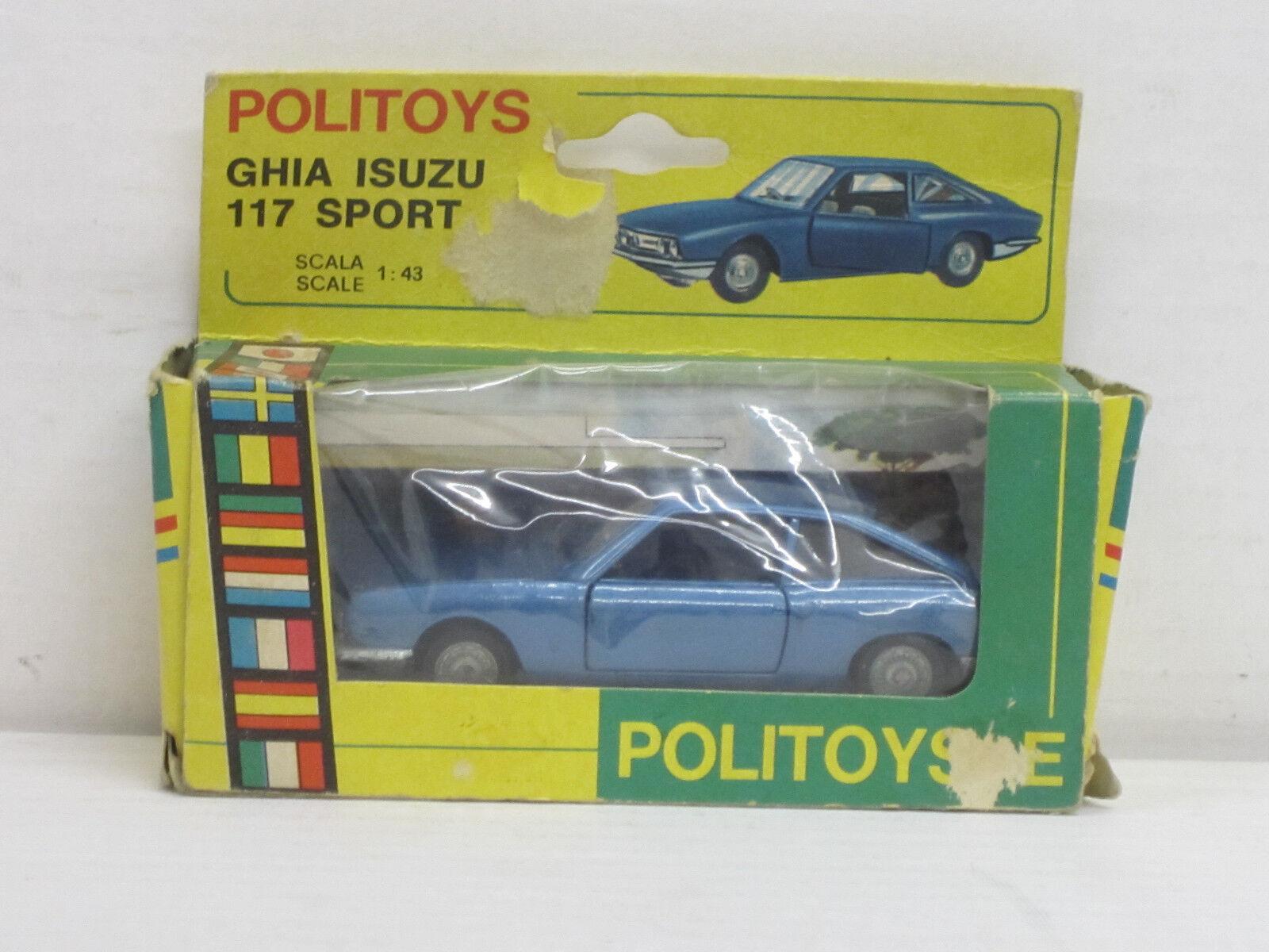 Ghia Isuzu 117 deporte en azul metalizado, embalaje original, original, original, Politoys 544, 1 43 23becb