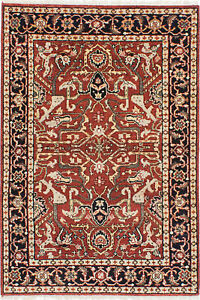Hand-knotted-Carpet-4-039-1-034-x-6-039-0-034-Serapi-Heritage-Wool-Area-Rug