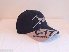 U.S. AIR FORCE C-17 MILITARY AIRCRAFT BALL CAP USAF HAT  BIN 1