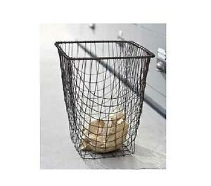 Shabby french country chic office wire waste basket trash can home decor cleo ebay - Shabby chic wastebasket ...