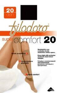 """FILODORO """"SUPER COMFORT 20"""" SET 6 GAMBALETTI 20 DEN COLORE GLACE'"""