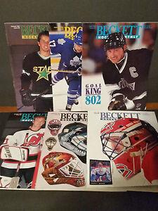 Lot-of-6-1994-Beckett-Hockey-Magazines-Wayne-Gretzky