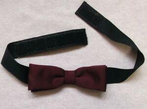 à Condition De Vintage Bow Tie Homme Dickie Nœud Papillon Rétro Réglable Bourgogne-afficher Le Titre D'origine Chaud Et Coupe-Vent