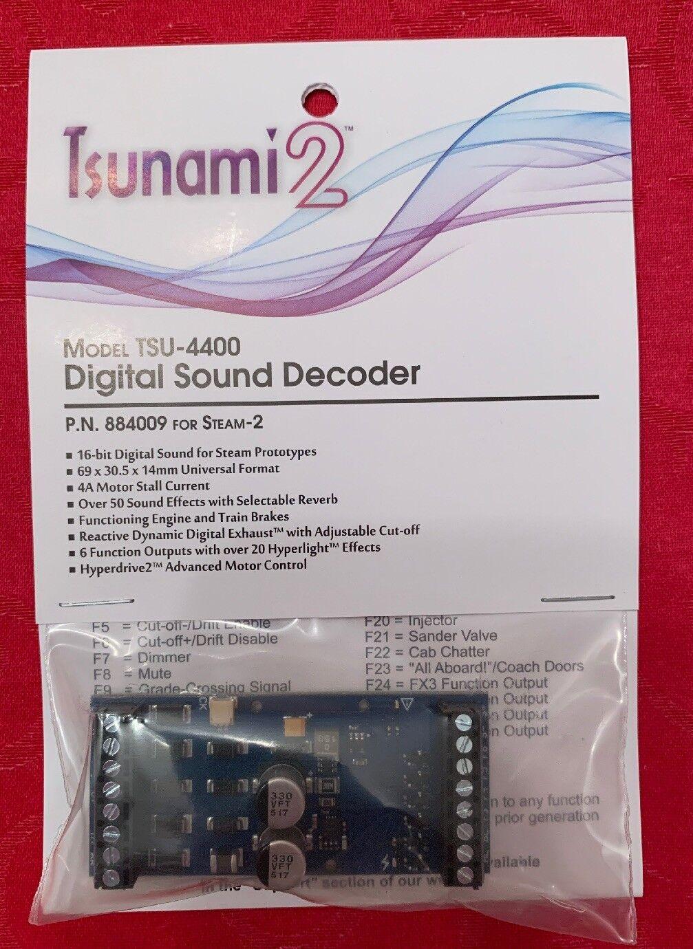 Soundtraxx 884009 Tsunami 2 TSU-4400 STEAM -2 Sound Decoder NEW    MODELRRSUPPLY