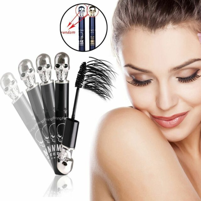 Black Makeup Skull Eyelash Mascara Extension 3D Fiber Long Curling Waterproof JP