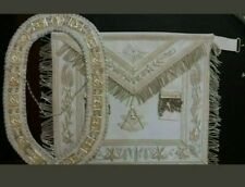 MASONIC COLLAR PAST MASTER APRON HAND EMBROIDERED PMA-100 BEST CRAFTSMANSHIP