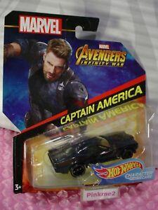2018-MARVEL-AVENGERS-Infinity-War-CAPTAIN-AMERICA-Hot-Wheels-Character-cars