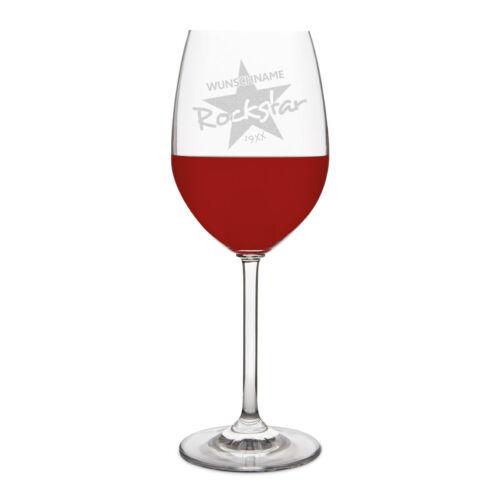 Rockstar Leonardo Rotweinglas 470ml Individuelle Gravur Geschenk Weinglas