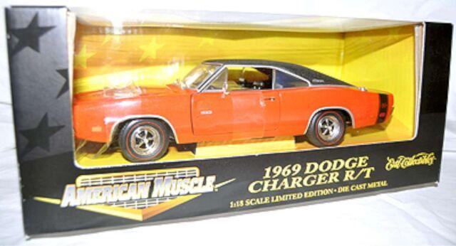 Ertl 1 18 1969 Dodge Charger R T Hemi Orange Car 32259 American