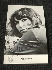 Alexandra-1969-Signed-Autograph-on-9x14-cm-AUTOGRAPH-CARD-LOOK