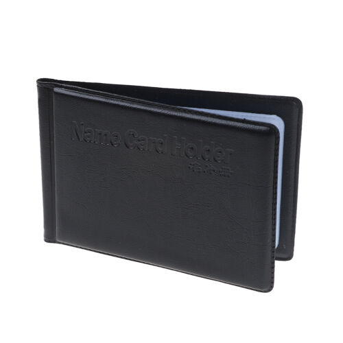 Leather 40 Card Commercial Name ID Credit Card Book Case Holder Organizer MAEK