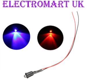 12V pre Wired Lampeggiante alternata ROSSO BLU LED AUTO SPIA Allarme di sicurezza