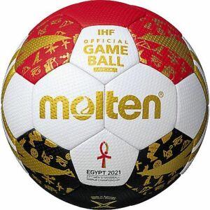 Molten Handball WM Egypte 2021 Top trainingsball Blanc Rouge
