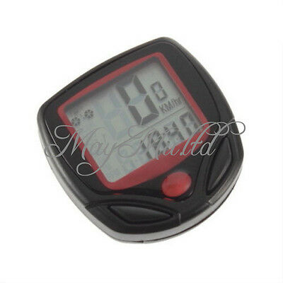 Digital Bicycle Bike LCD Cycling Computer Odometer Speedometer Stopwatch