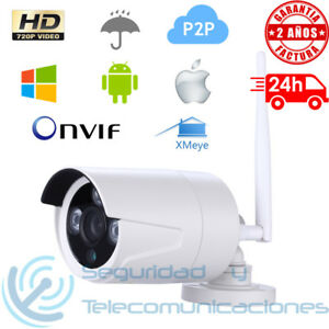 Camara IP WiFi HD 720p exterior XMeye H264 P2P waterproof IR cut outdoor ONVIF