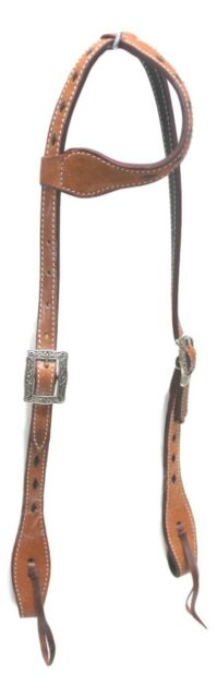 D.A. Brand Light Oil One Ear Headstall w/ Quick Change Horse Tack Equine