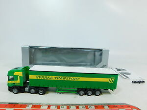 Ax749-0-5-Herpa-Exclusive-h0-1-87-284240-remolcarse-scania-Sparks-transporte-OVP