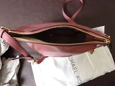 Michael Kors Bedford Leather Adjustable Strap Messenger Bag -  Merlot