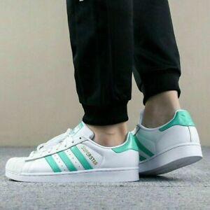 Detalles acerca de Adidas Superstar Blanco/Menta Verde/Oro Para Hombre De  Cuero Zapatillas Zapatos- mostrar título original