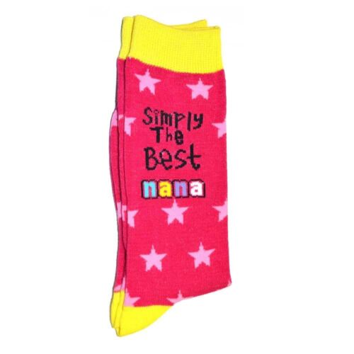 Nanas Birthday Gifts Simply The Best Socks Polyester Adult Size Christmas Gifts